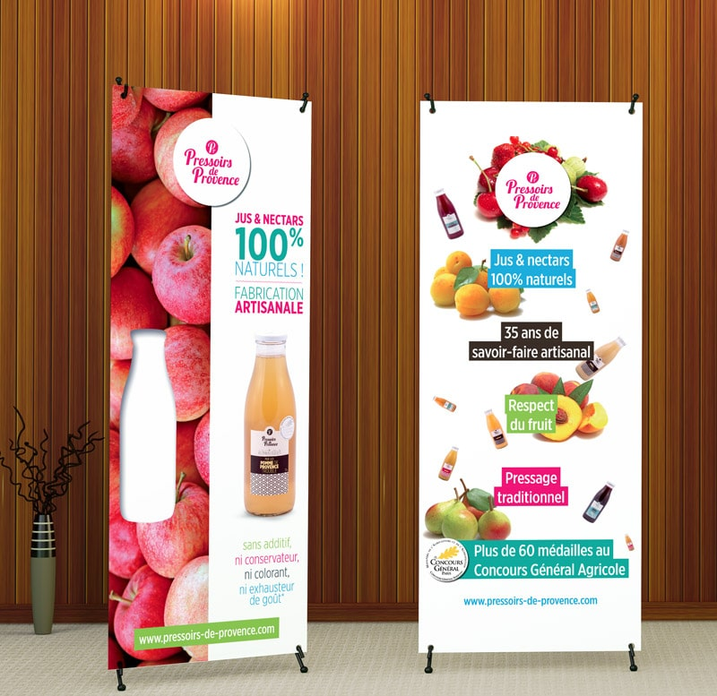 création roll up pressoirs